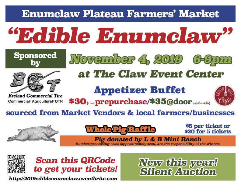 The Menu You Have Been Waiting For – Edible Enumclaw 2019!